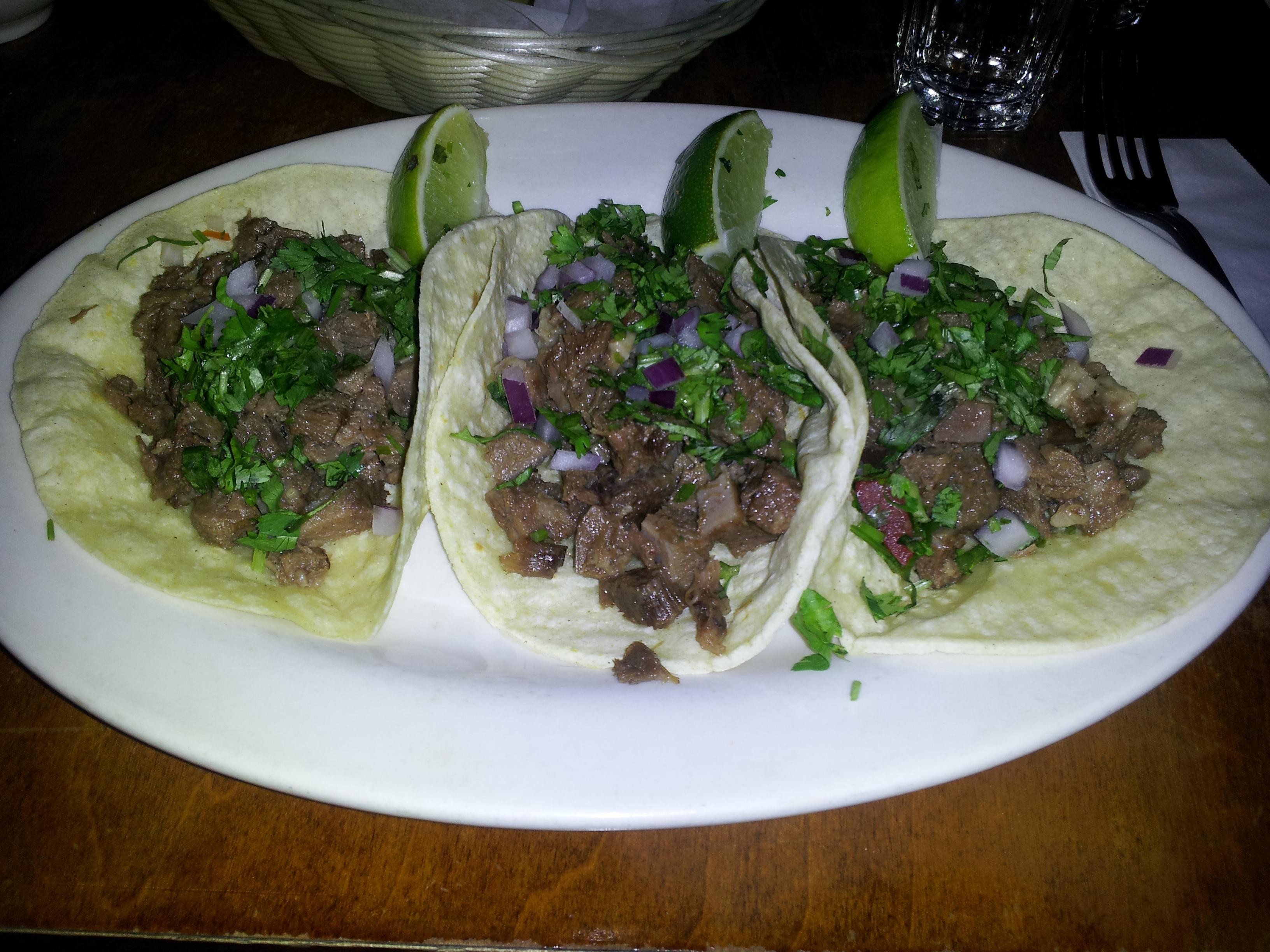 Mexican Tacos De Lengua lengua (beef tongue) tacos taco slut