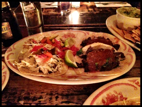 From left: Cochinita Pibil, Bistec
